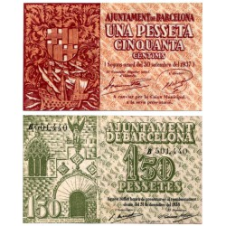 Barcelona. 1937. 1,50 Pesetas (EBC-) Serie B