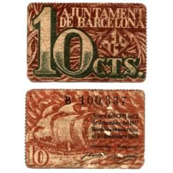 Barcelona. 1937. 10 Céntimos (EBC) Serie B