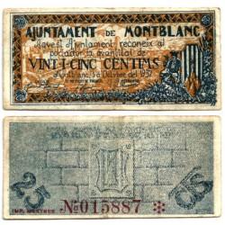 Montblanc. 1937. 25 Céntimos (MBC)