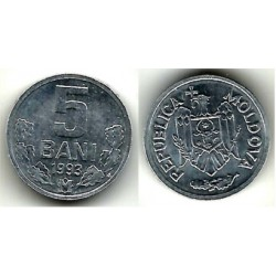 (2) Moldavia. 1993. 5 Bani (SC)