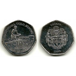 (52) Guyana. 1996. 10 Dollars (SC)