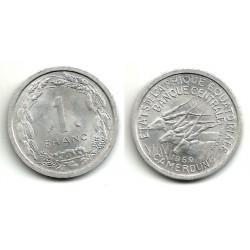 (6) Camerún. 1969. 1 Franc (SC)