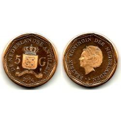 (43) Antillas Neerlandesas. 2004. 5 Gulden (SC)
