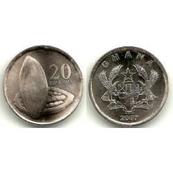 (40) Ghana. 2007. 20 Pesewas (SC)