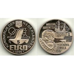 Países Bajos. 1996. 5 Euro (SC)
