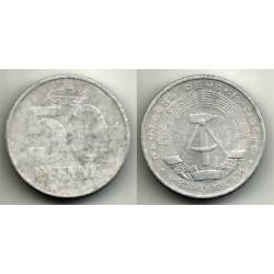 (12.1) Alemania Democrática. 1958(A). 50 Pfennig (BC)