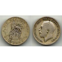 (815a.1) Gran Bretaña. 1922. 6 Pence (BC) (Plata)