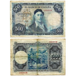 Estado Español. 1954. 500 Pesetas (BC-) Sin Serie. Leves Roturas
