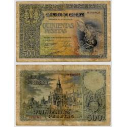 Estado Español. 1940. 500 Pesetas (BC+) Sin Serie