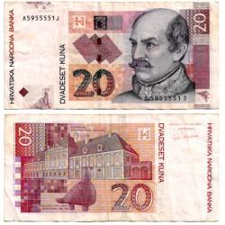 (39a) Croacia. 2001. 20 Kuna (BC+)