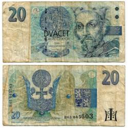 (10b) República Checa. 1994. 20 Korun (RC+)