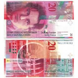 (68a) Suiza. 1994. 20 Francs (MBC)