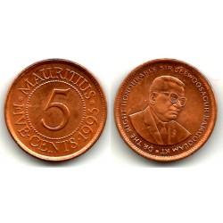 (52) Mauricio. 1993. 5 Cents (EBC)