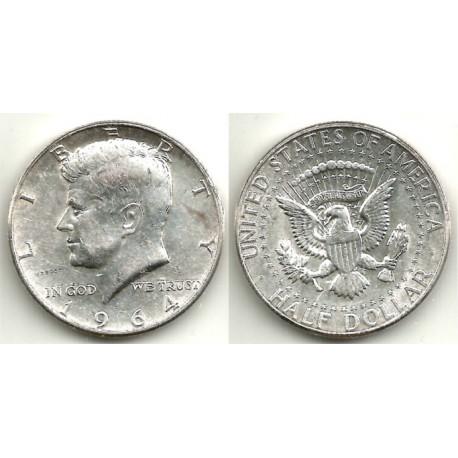 (202a) Estados Unidos de América. 1964. Half Dollar (EBC-) (Plata)