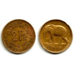 (28) Congo Belga. 1946. 2 Francs (MBC)