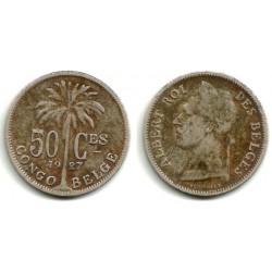 (22) Congo Belga. 1927. 50 Centimes (BC)