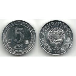 (2) Corea del Norte. 1959. 5 Chon (SC)