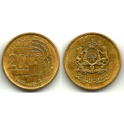 (Y115) Marruecos. 2002. 20 Santimat (SC)