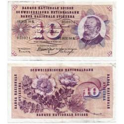 (45h) Suiza. 1963. 10 Francs (MBC)