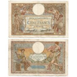 (78c) Francia. 1934. 100 Francs (BC+) Pequeñas roturas