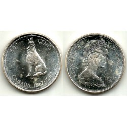 (69) Canadá. 1967. 50 Cents (EBC+) (Plata)