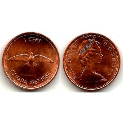 (65) Canadá. 1967. 1 Cent (EBC)