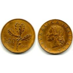 (97.1) Italia. 1958(R). 20 Lira (MBC)