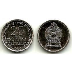 (141a) Sri Lanka. 1996. 25 Cents (EBC+)