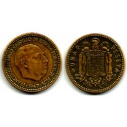Estado Español. 1947*(19-49). 1 Peseta (MBC-)