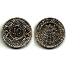 (34) Antillas Neerlandesas. 1990. 10 Cents (MBC)