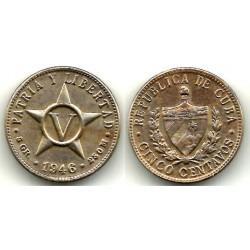 (11.3) Cuba. 1946. 5 Centavos (MBC-)