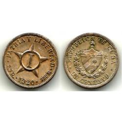 (9.1) Cuba. 1920. 1 Centavo (BC+)