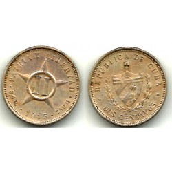 (A10) Cuba. 1915. 2 Centavos (MBC)