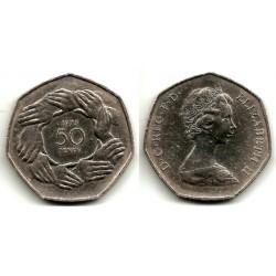 (918) Gran Bretaña. 1973. 50 Pence (BC)