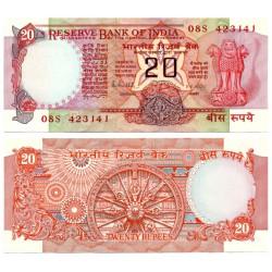 (82h) India. 1970-2002. 20 Rupees (SC)