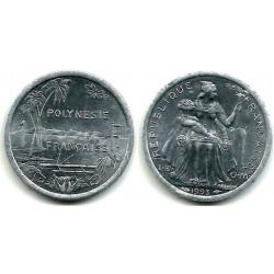 (11) Polinesia Francesa. 1993. 1 Franc (SC)