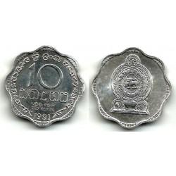 (140a) Singapur 1991. 10 Cents (SC)