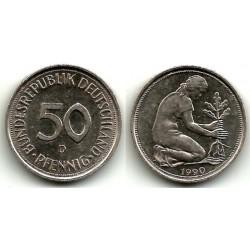 (109.2) Alemania. 1990(D). 50 Pfennig (MBC)