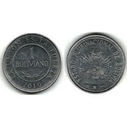 (217) Bolivia. 2010. 1 Boliviano (SC)