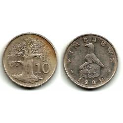 (3) Zimbabue. 1980. 10 Cents (BC)