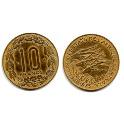 (9) Estados África Central. 1975. 10 Francs (MBC)