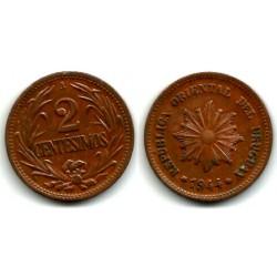 (20a) Uruguay. 1944. 2 Centesimos (EBC+)