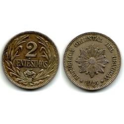 (20) Uruguay. 1924. 2 Centesimos (MBC)