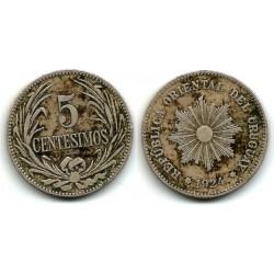 (21) Uruguay. 1924. 5 Centesimos (BC+)