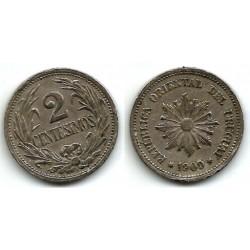 (20) Uruguay. 1909. 2 Centesimos (MBC)