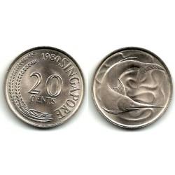 (4) Singapur. 1980. 20 Cents (SC)