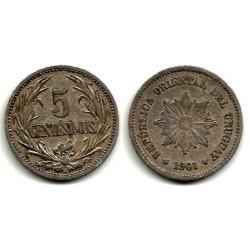 (21) Uruguay. 1901. 5 Centesimos (MBC)