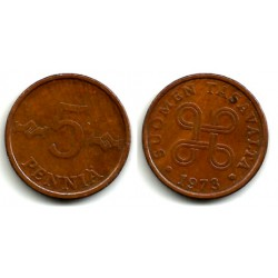 (45) Finlandia. 1973. 5 Pennia (MBC)