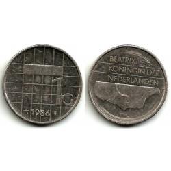 (205) Países Bajos. 1986. 1 Gulden (BC)