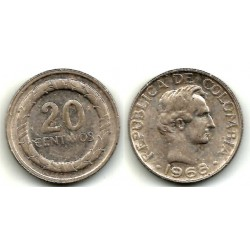 (227) Colombia. 1968. 20 Centavos (BC)